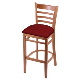 3140 Stool with Medium Finish and Graph Ruby Seat
