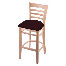 3140 Stool with Natural Finish and Canter Bordeaux Seat