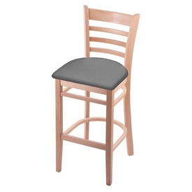 3140 Stool with Natural Finish and Canter Folkstone Grey Seat