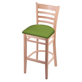 3140 Stool with Natural Finish and Canter Kiwi Green Seat