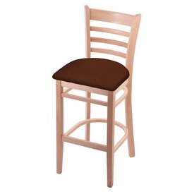 3140 Stool with Natural Finish and Rein Adobe Seat