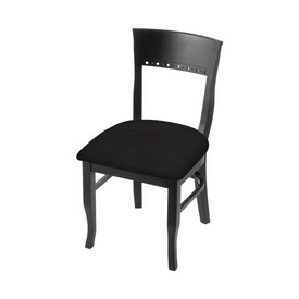 """3160 18"""" Chair with Black Finish and Canter Espresso Seat"""
