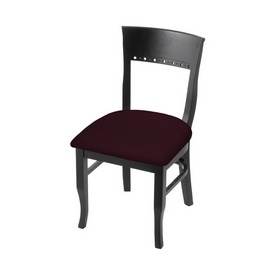 """3160 18"""" Chair with Black Finish and Canter Bordeaux Seat"""