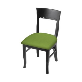 """3160 18"""" Chair with Black Finish and Canter Kiwi Green Seat"""