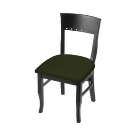 """3160 18"""" Chair with Black Finish and Canter Pine Seat"""
