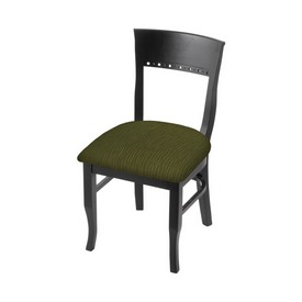 """3160 18"""" Chair with Black Finish and Graph Parrot Seat"""
