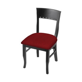 """3160 18"""" Chair with Black Finish and Graph Ruby Seat"""