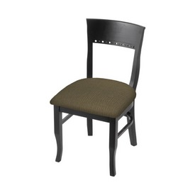 """3160 18"""" Chair with Black Finish and Graph Cork Seat"""