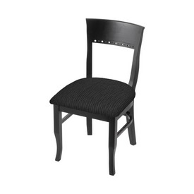 """3160 18"""" Chair with Black Finish and Graph Coal Seat"""