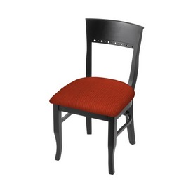 """3160 18"""" Chair with Black Finish and Graph Poppy Seat"""