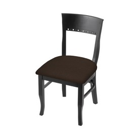 """3160 18"""" Chair with Black Finish and Rein Coffee Seat"""