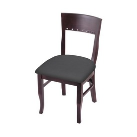 """3160 18"""" Chair with Dark Cherry Finish and Canter Storm Seat"""