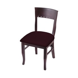 """3160 18"""" Chair with Dark Cherry Finish and Canter Bordeaux Seat"""