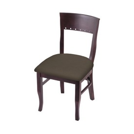 """3160 18"""" Chair with Dark Cherry Finish and Canter Earth Seat"""