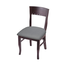 """3160 18"""" Chair with Dark Cherry Finish and Canter Folkstone Grey Seat"""
