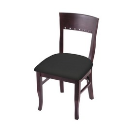 """3160 18"""" Chair with Dark Cherry Finish and Canter Iron Seat"""
