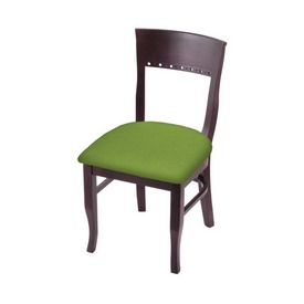 """3160 18"""" Chair with Dark Cherry Finish and Canter Kiwi Green Seat"""