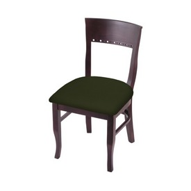 """3160 18"""" Chair with Dark Cherry Finish and Canter Pine Seat"""