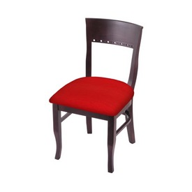"""3160 18"""" Chair with Dark Cherry Finish and Canter Red Seat"""