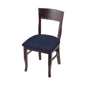"""3160 18"""" Chair with Dark Cherry Finish and Graph Anchor Seat"""