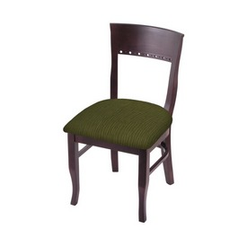"""3160 18"""" Chair with Dark Cherry Finish and Graph Parrot Seat"""