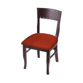 """3160 18"""" Chair with Dark Cherry Finish and Graph Poppy Seat"""