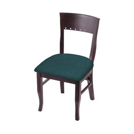 """3160 18"""" Chair with Dark Cherry Finish and Graph Tidal Seat"""