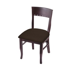 """3160 18"""" Chair with Dark Cherry Finish and Rein Coffee Seat"""