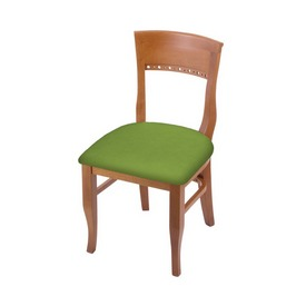 """3160 18"""" Chair with Medium Finish and Canter Kiwi Green Seat"""