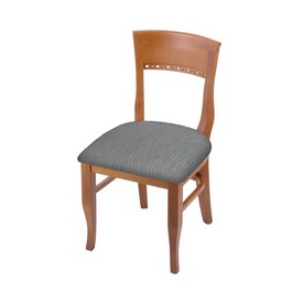 """3160 18"""" Chair with Medium Finish and Graph Alpine Seat"""