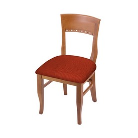"""3160 18"""" Chair with Medium Finish and Graph Poppy Seat"""