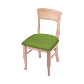 """3160 18"""" Chair with Natural Finish and Canter Kiwi Green Seat"""
