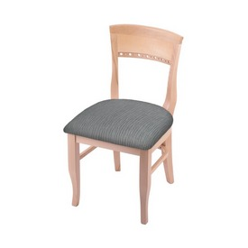 """3160 18"""" Chair with Natural Finish and Graph Alpine Seat"""