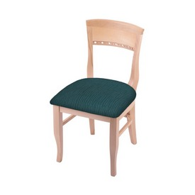 """3160 18"""" Chair with Natural Finish and Graph Tidal Seat"""