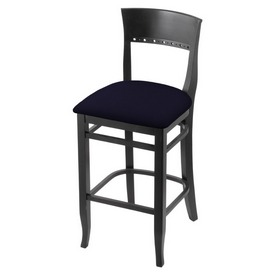 """3160 25"""" Counter Stool with Black Finish and Canter Twilight Seat"""