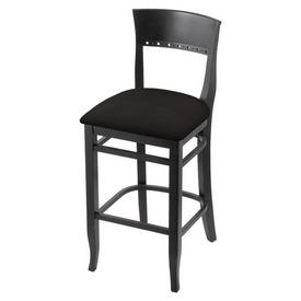 """3160 25"""" Counter Stool with Black Finish and Canter Espresso Seat"""