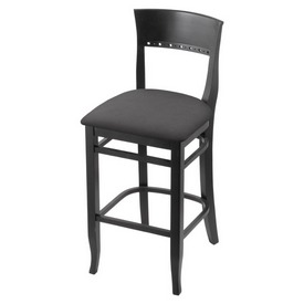 """3160 25"""" Counter Stool with Black Finish and Canter Storm Seat"""