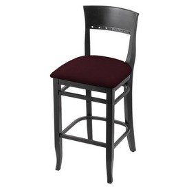 """3160 25"""" Counter Stool with Black Finish and Canter Bordeaux Seat"""