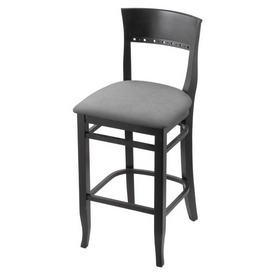 """3160 25"""" Counter Stool with Black Finish and Canter Folkstone Grey Seat"""