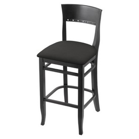 """3160 25"""" Counter Stool with Black Finish and Canter Iron Seat"""
