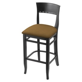 """3160 30"""" Bar Stool with Black Finish and Canter Saddle Seat"""