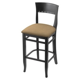 """3160 25"""" Counter Stool with Black Finish and Canter Sand Seat"""