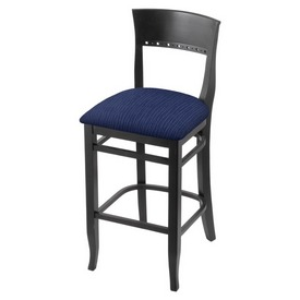 """3160 25"""" Counter Stool with Black Finish and Graph Anchor Seat"""