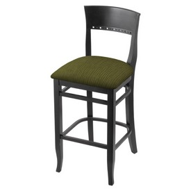 """3160 25"""" Counter Stool with Black Finish and Graph Parrot Seat"""