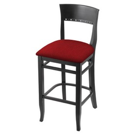 """3160 30"""" Bar Stool with Black Finish and Graph Ruby Seat"""