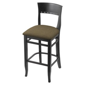 """3160 25"""" Counter Stool with Black Finish and Graph Cork Seat"""