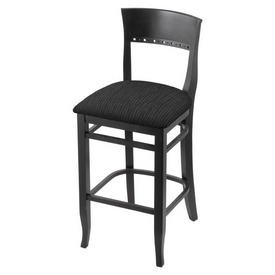 """3160 25"""" Counter Stool with Black Finish and Graph Coal Seat"""