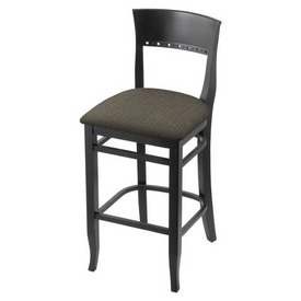 """3160 30"""" Bar Stool with Black Finish and Graph Chalice Seat"""