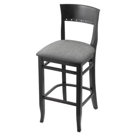 """3160 30"""" Bar Stool with Black Finish and Graph Alpine Seat"""