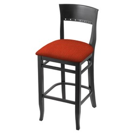 """3160 25"""" Counter Stool with Black Finish and Graph Poppy Seat"""